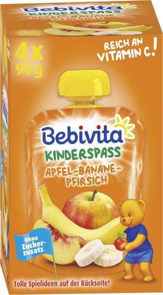 Bebivita Kinderspass Apfel-Banane-Pfirsich