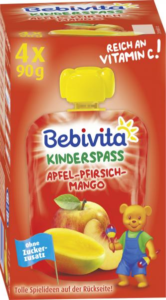 Bebivita Kinder-Spass Apfel-Pfirsich-Mango