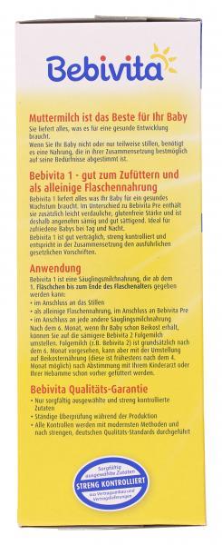 Bebivita 1 Anfangsmilch von Geburt an