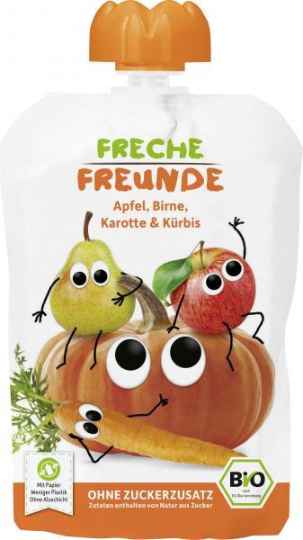 Erdbär Freche Freunde Fruchtmus Apfel-Birne-Karotte & Kürbis