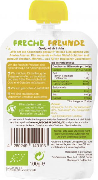 Freche Freunde Quetschie Apfel-Banane-Ananas-Kokosnuss