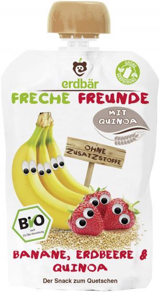 Erdbär Freche Freunde Fruchtmus Banane-Erdbeere & Quinoa