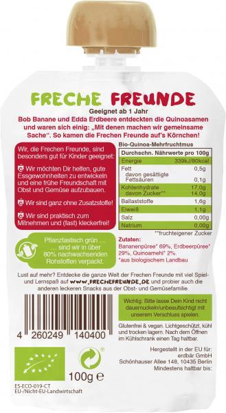 Erdbär Freche Freunde Quetschie Banane-Erdbeere & Quinoa