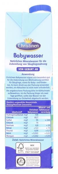 Christinen Babywasser