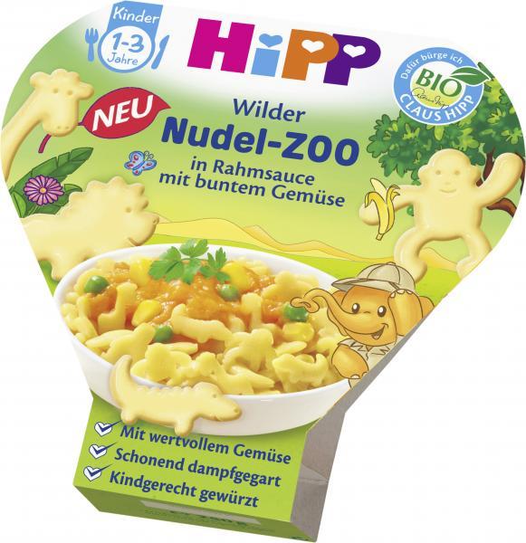 Hipp Wilder Nudel-Zoo in Rahmsauce mit buntem Gemüse