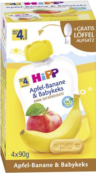 Hipp Früchte im Quetschbeutel Apfel-Banane & Babykeks