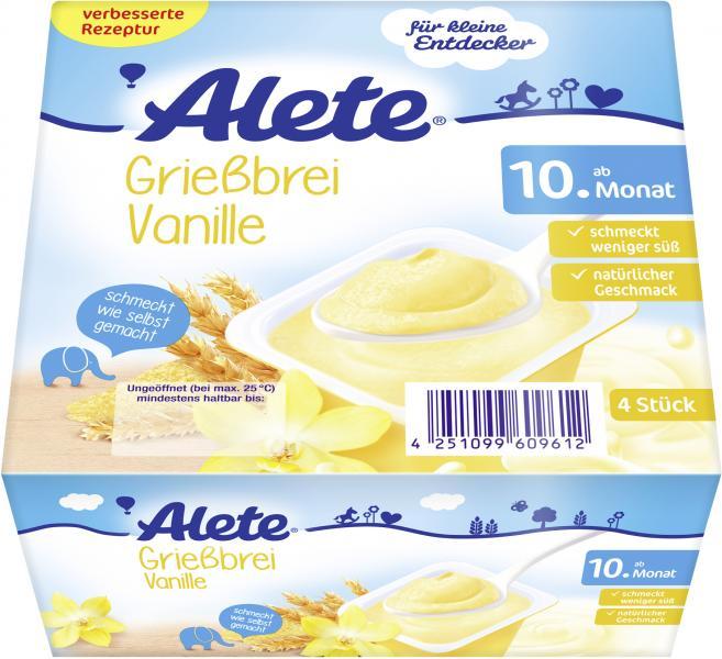 Alete Grießbrei Vanille
