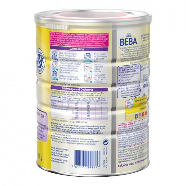 Nestlé Beba Pro HA 2 Folgemilch nach dem 6 Monat