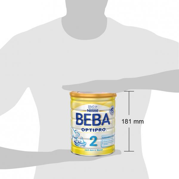 Nestlé Beba Optipro 2 Folgemilch nach dem 6. Monat, Pulver  wiederverschließbar mit praktischer Löffelablage