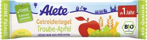 Alete Getreideriegel Apfel-Traube ab 1 Jahr