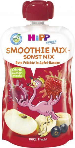 Hipp Smoothie Mix Quetschbeutel Rote Früchte in Apfel-Banane