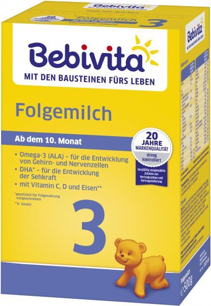 Bebivita Folgemilch 3 ab dem 10. Monat
