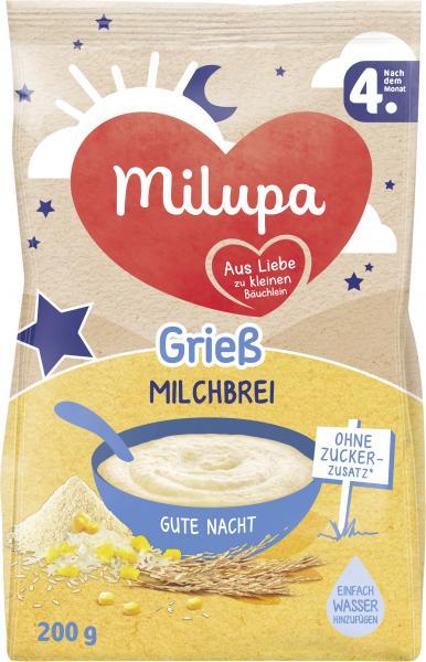 Milupa Gute Nacht Grieß Milchbrei