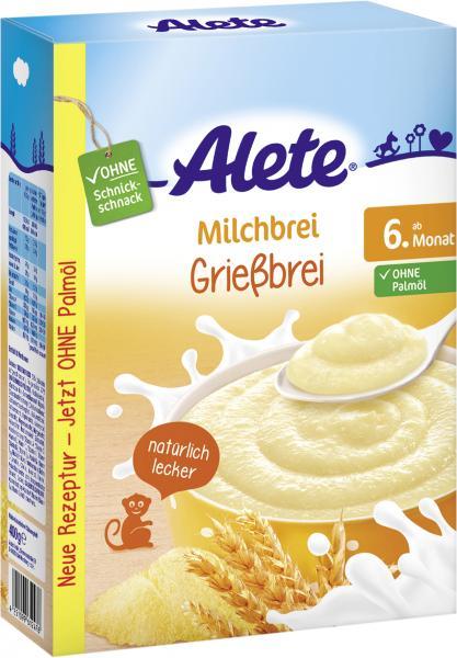 Alete Milchbrei Grießbrei