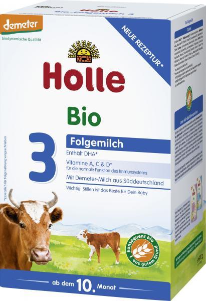 Holle Demeter Bio Folgemilch 3 ab dem 10. Monat