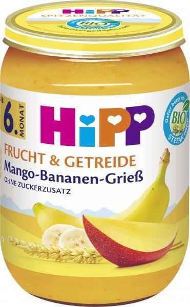 Hipp Frucht & Getreide Mango-Bananen-Grieß
