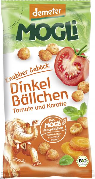 Mogli Demeter Knabbergebäck Dinkel Bällchen Tomate und Karotte