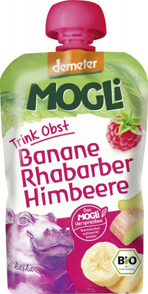 Mogli Demeter Trinkobst Banane Rhabarber Himbeere