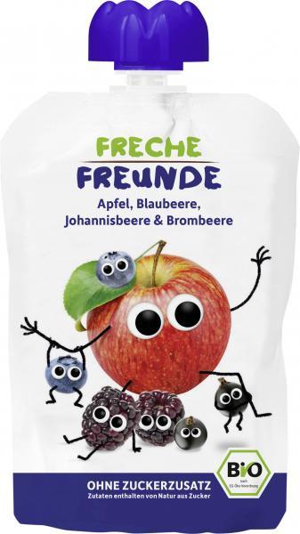 Freche Freunde Quetschie Apfel-Blaubeere-Johannisbeere-Brombeere