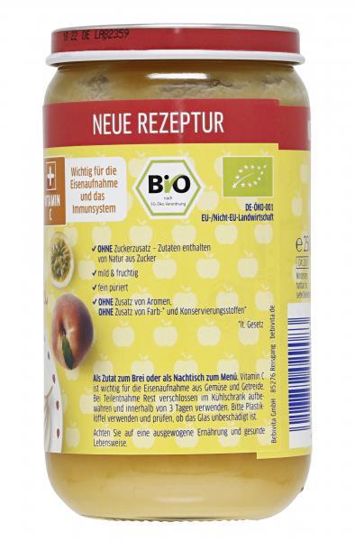 Bebivita Früchte Pfirsich mit Maracuja in Apfel