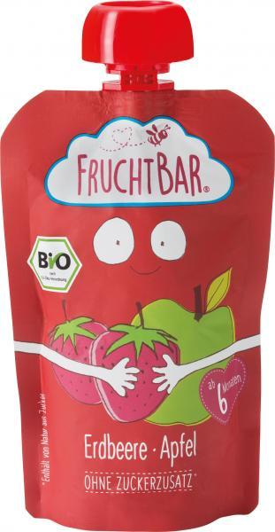 FruchtBar Bio Fruchtpüree Erdbeere-Apfel