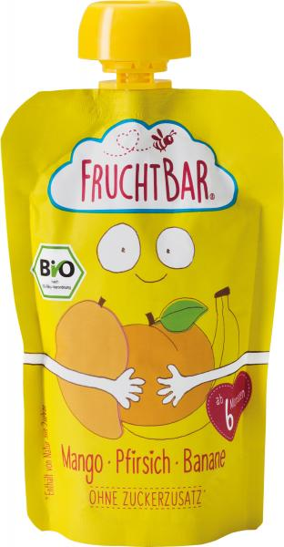 FruchtBar Bio Fruchtpüree Mango-Pfirsich-Banane