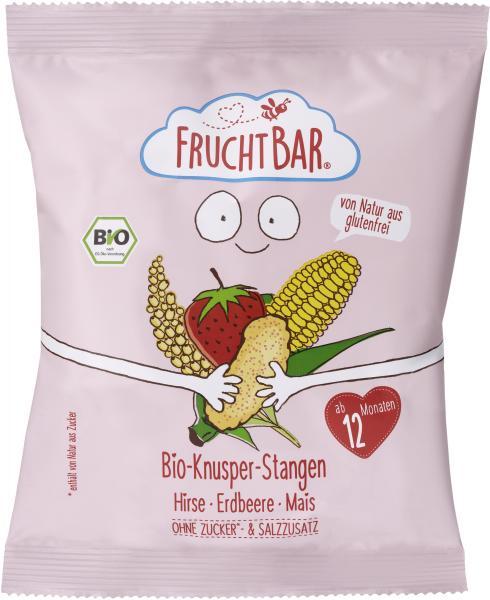 FruchtBar Bio-Knusper-Stangen Hirse-Erdbeere-Mais