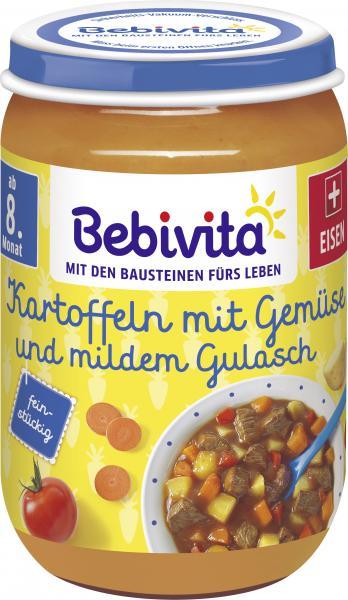 Bebivita Kartoffeln mit Gemüse und mildem Gulasch