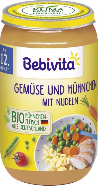 Bebivita Gemüse und Hühnchen mit Nudeln