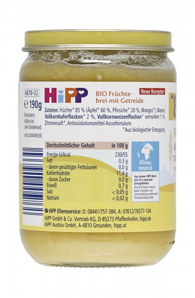 Hipp Frucht & Getreide Apfel-Pfirsich mit Vollkorn