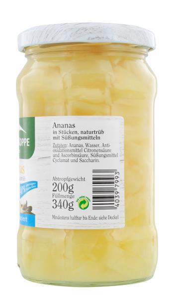 Schneekoppe Ananas in Stücken naturtrüb