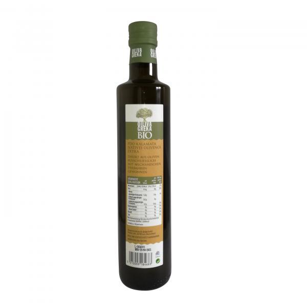 Oiliva Greka Bio PDO Kalamata Natives Olivenöl Extra