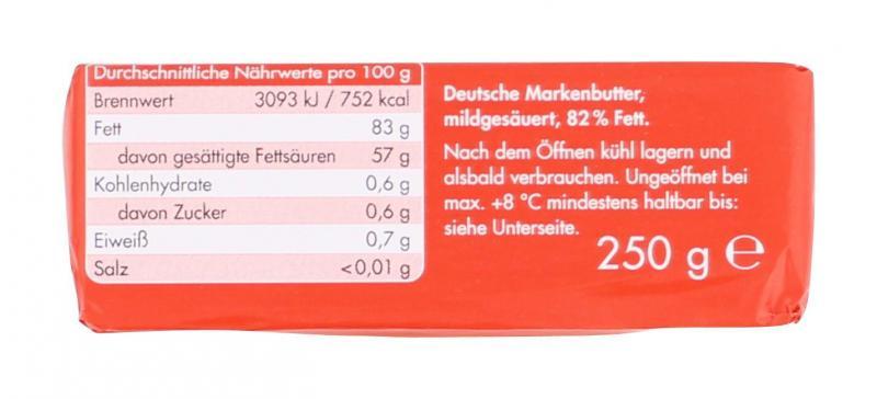Jeden Tag Deutsche Markenbutter