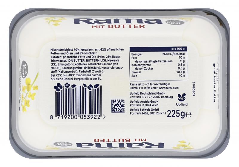 Rama mit Butter und Meersalz