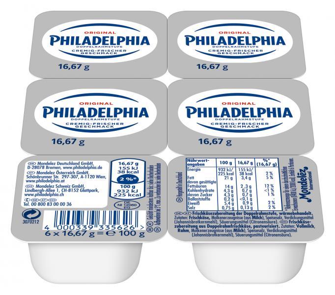 Philadelphia Frischkäse Klassisch Portionspackungen