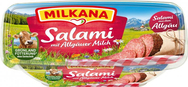 Milkana Schmelzkäse Salami