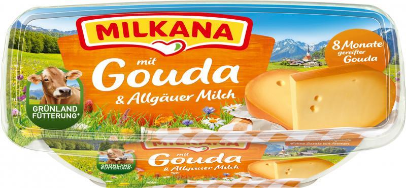 Milkana Schmelzkäse mit Gouda