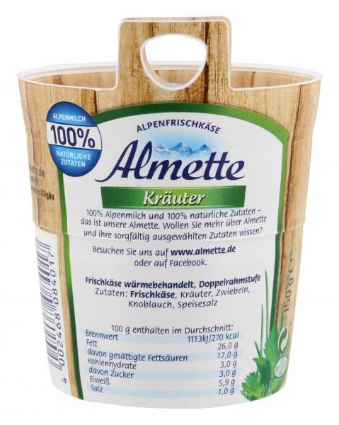 Almette Alpenfrischkäse Kräuter