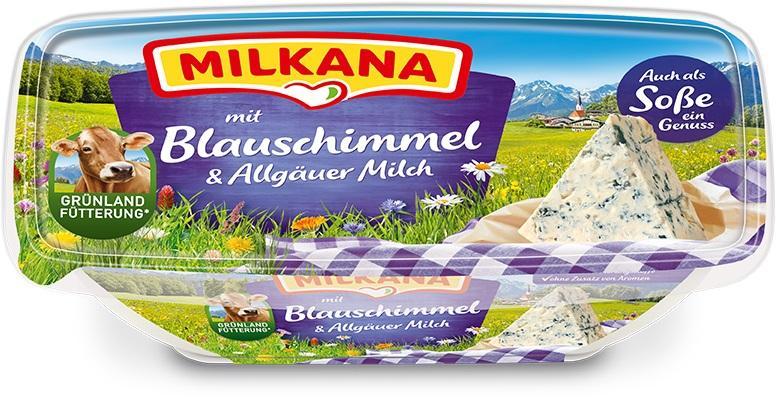 Milkana Schmelzkäse mit Blauschimmel & Allgäuer Milch