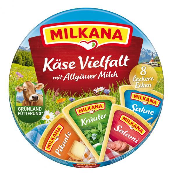 Milkana Käse Vielfalt 8 leckere Ecken
