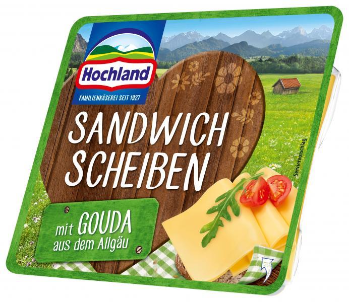 Hochland Sandwich Scheiben Bauernhof Gouda