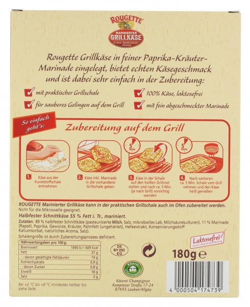 Rougette marinierter Grillkäse Paprika-Kräuter