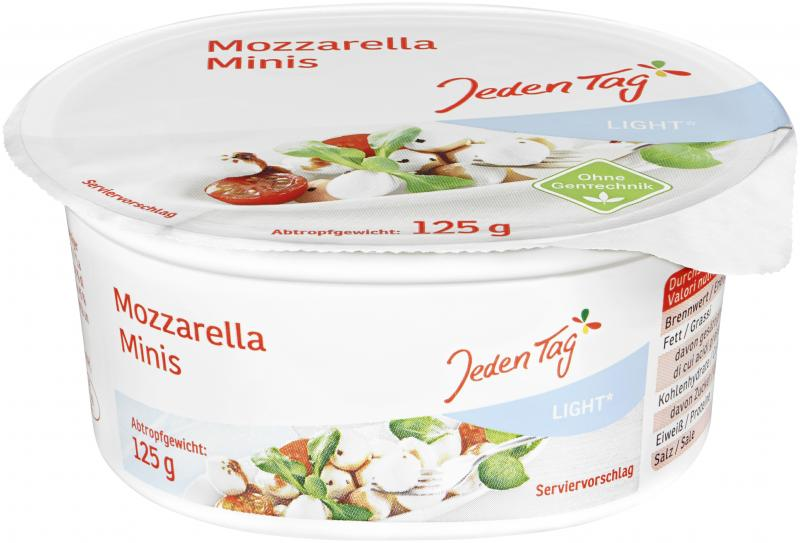 Jeden Tag Mozzarella Mini Light