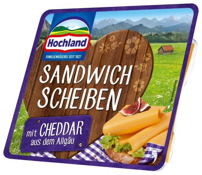 Hochland Sandwich Scheiben mit Cheddar