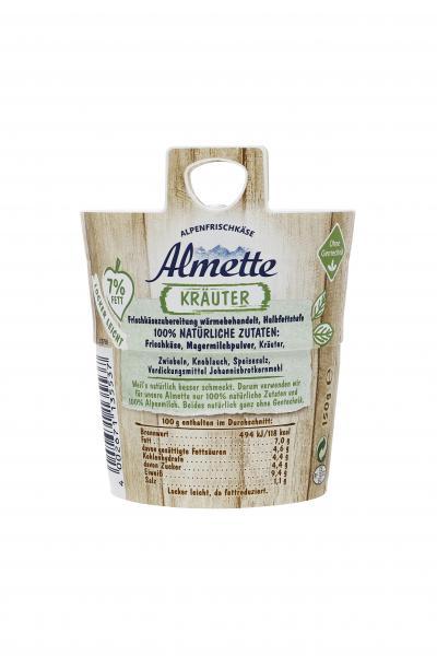 Almette Alpenfrischkäse Kräuter 7% Fett