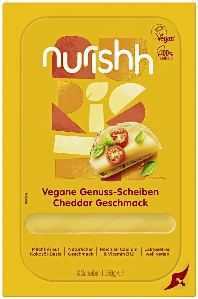 Nurishh vegane Genuss Scheiben Cheddar Geschmack