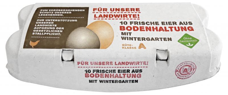 Eier aus Bodenhaltung mit Wintergarten Güteklasse A