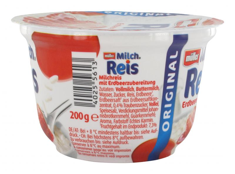 Müller Milchreis Original Erdbeere