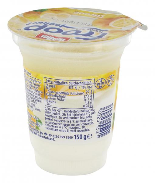 Müller Froop Frucht auf Joghurt Zitrone