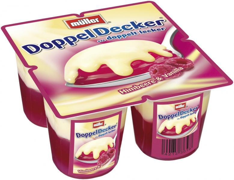 Müller DoppelDecker Himbeere & Vanilla